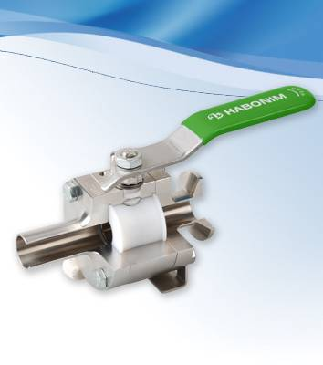 Habonim Cavity Filler Ball Valves are ideal for sanitary service
