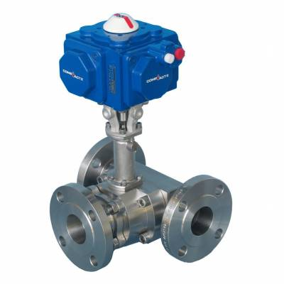 Flanged multi-port 3, 4 and 5-way ball valves