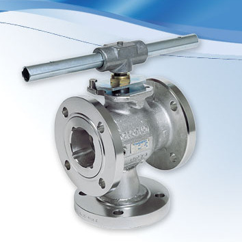 Flanged diverter valves to achieve desired flow patterns